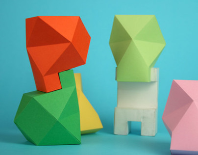 Paper Toy Skull By Proyecto Ensamble