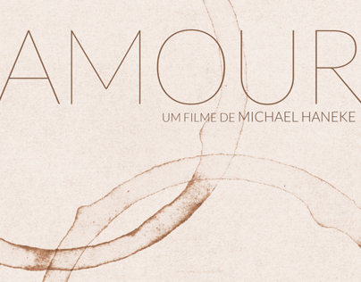 Amour - Cartaz de cinema sem iconografia