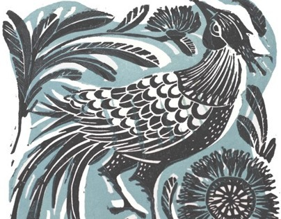 In his finery Linocut Print
