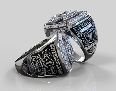 Oakland Raiders Superbowl Ring 3D Render