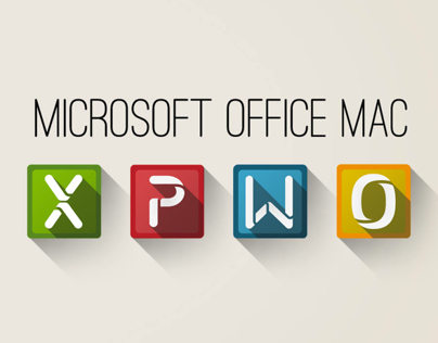 Microsoft Office Mac Icon Set