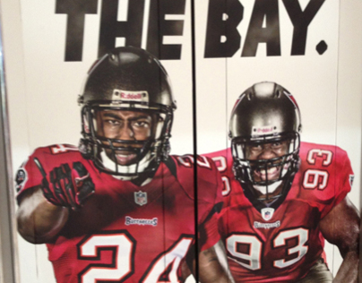 Tampa Bay Buccaneers Mall Wraps
