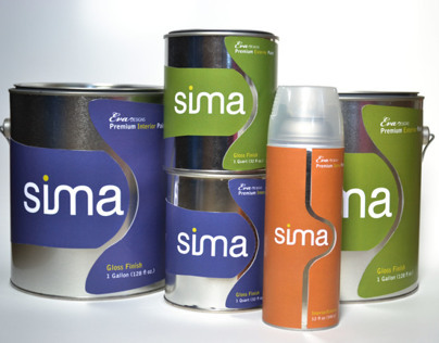 Sima Paint | Package & Branding