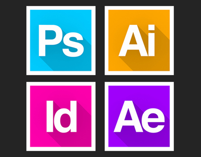 Long Shadow Adobe Icons
