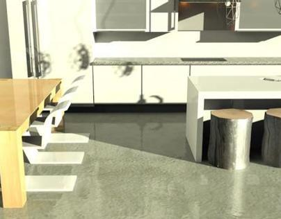 3D Model of Modern Kitchen