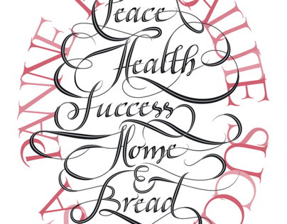 Peace, health, success, home & bread