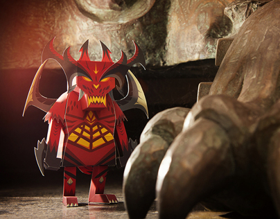 BLIZZARD & MOMOT PAPER TOY SERIES #1