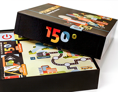 Polimi Timeline - boardgame illustration