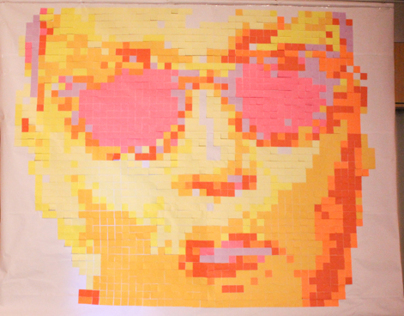 PSY Post-it Art