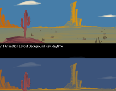 Cartoon Desert Pan | Animation Layout Background Keys