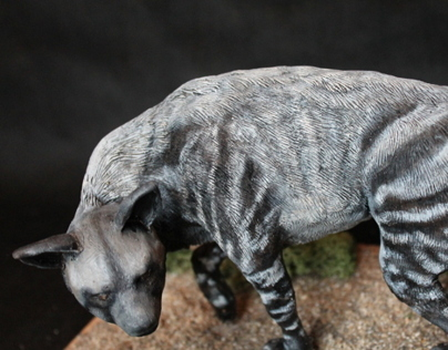 Striped Hyena Sculpt