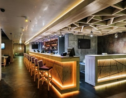 Concrete restaurant in Kiev, Ukraine