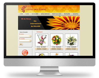 2008 - Website layout for floriculture
