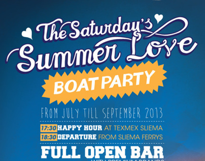 The Saturday's Summer Love Boat Party.