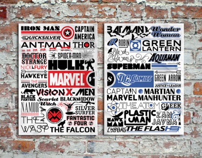 Poster Marvel vs DC