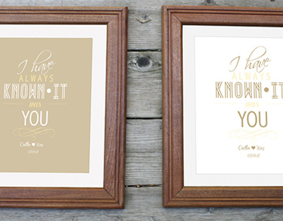 Wedding Gift - Typography Poster