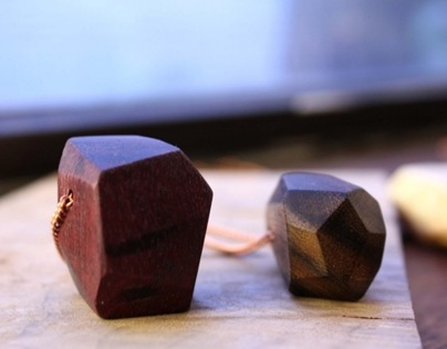 Faceted Wood Necklaces