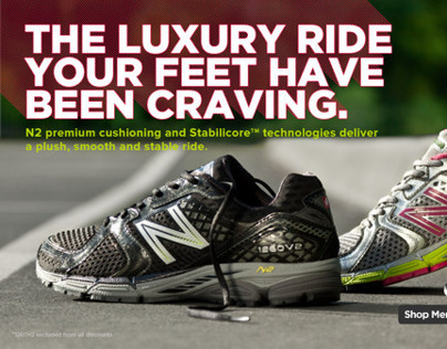 New Balance Product Web Banners
