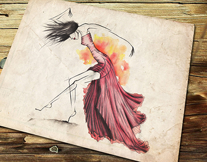 Fashion and dance drawing
