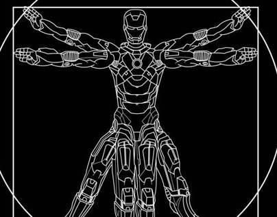 Vitruvian Iron Man