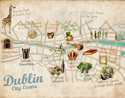 Dublin City Centre Map