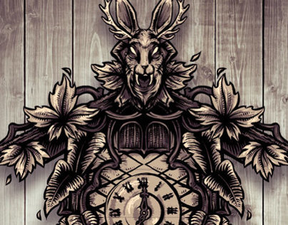 Wolpertinger Clock