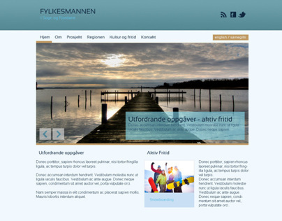 Webdesign idea for Fylkesmannen