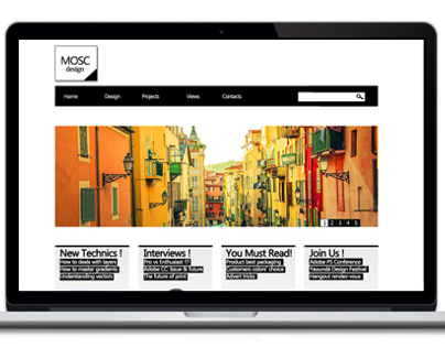 Webdesign :  a B&W Issue by MOSC