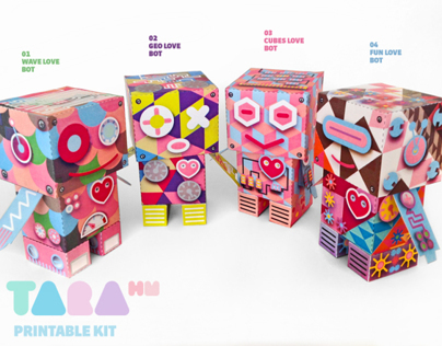 TaraBots Spring Edition Paper Toy DIY Robots Craft Kit
