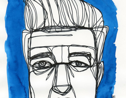 Drawn Portraits of Twin Peaks - David Lynch