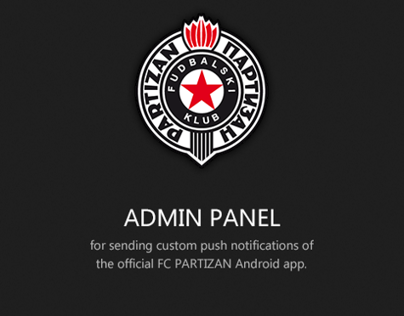 Admin Panel for the official FC Partizan Android App