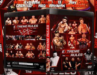 WWE Extreme Rules 2013 Blu-Ray Cover..