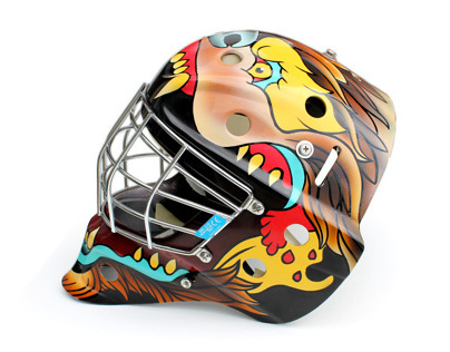 Brown University Bears Hockey Mask