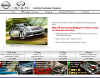 Nissan/Infiniti Vehicle Purchase Program Website