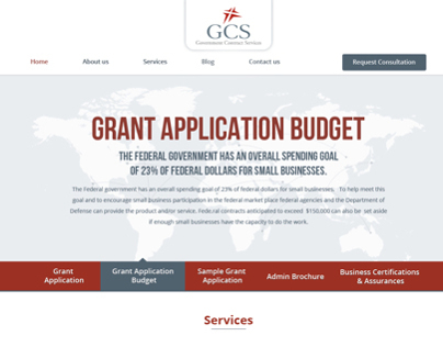 GCS website design layout