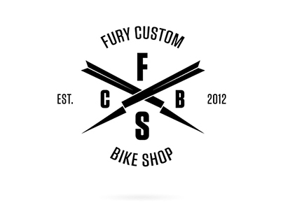 Fury Custom Bike Shop Identity