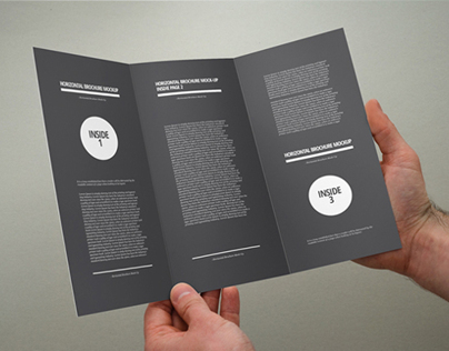 Photorealistic Brochure 3xDL Mock-up