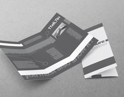 Tri-Fold US Standard Brochure Mock-up