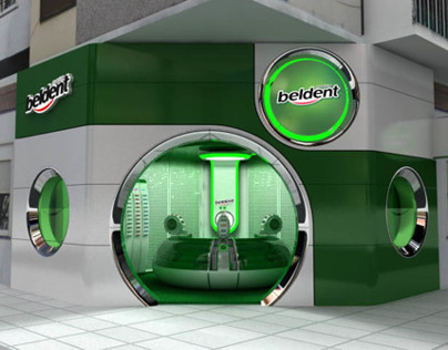 Retail design for bubble gum project Beldent
