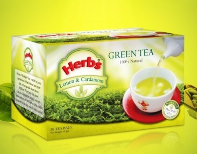 Herbs Green Tea Packaging Design