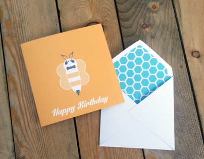 Bee Happy Birthday Card - Print