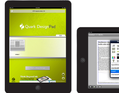Award Winning Quark DesingPad