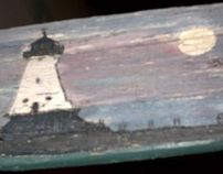 Great Lakes Lighthouses on Driftwood II