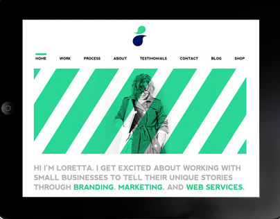 Loretta May Design Re-brand