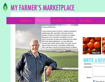 Online Farmers Marketplace