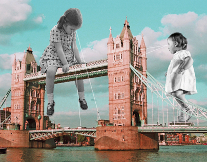 london playground - collage