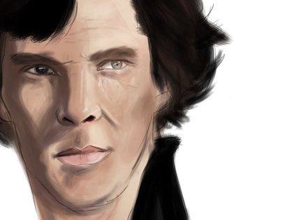 Sherlock Digital Painting