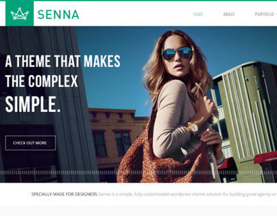 Senna - Portfolio and Blog PSD Template