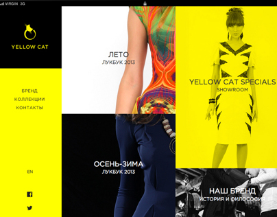 Website for Yellow Cat