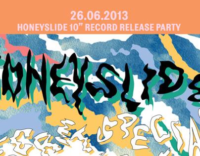 Gig poster for Honey Slide